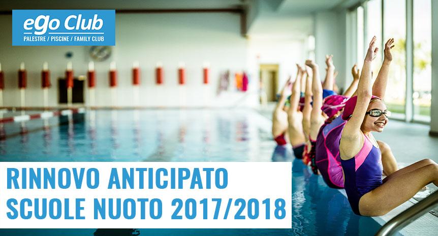 SCUOLA NUOTO 2017/2018 RINNOVO ANTICIPATO