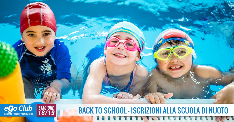 BACK TO SCHOOL! RIAPERTE LE ISCRIZIONI SCUOLA NUOTO 2018/2019