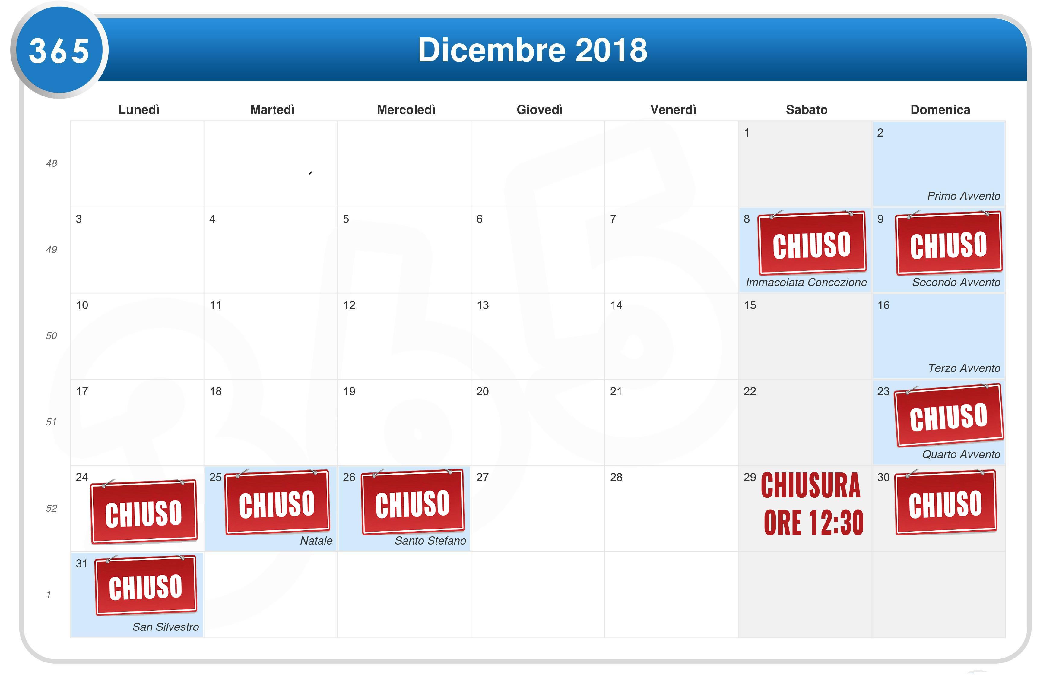 DICEMBRE 2018