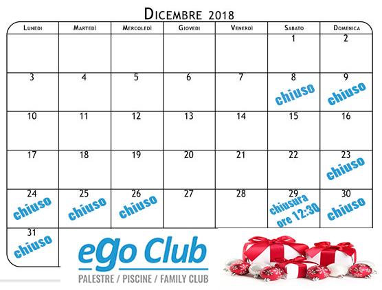 calendario dicembre 2018